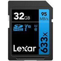 Für weitere Info hier klicken. Artikel: Lexar Professional, SDHC 633x, Class 10, UHS-I, U1, V10, 95MB/s 32 GB