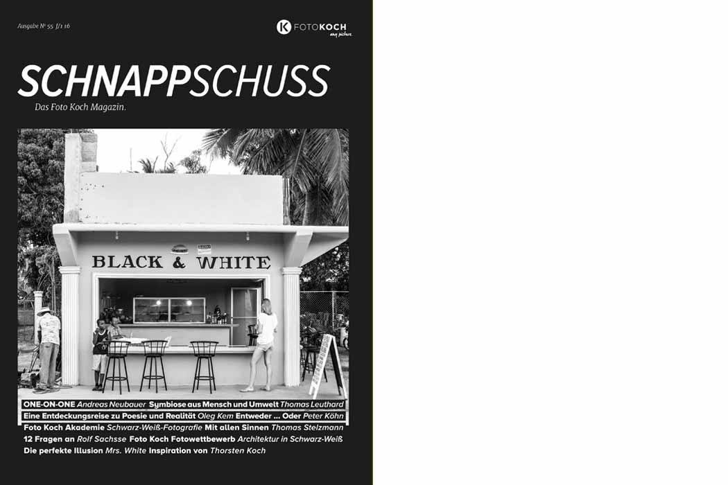 Schnappschuss 55 Schwarz-Weiss Magazin